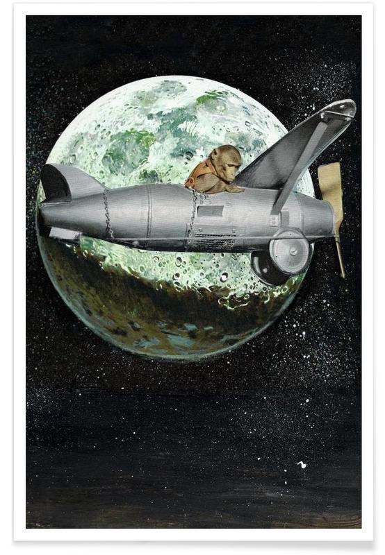 Lune, Space Monkey affiche