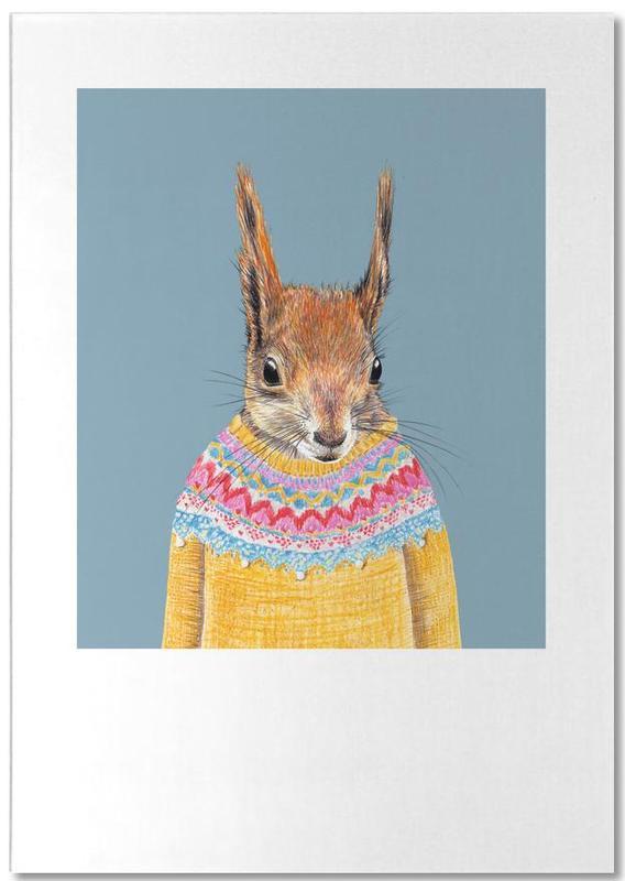 Hörnchen im Pullover Notepad