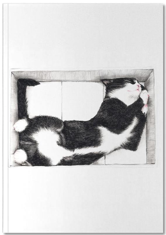 Katze im Karton Notebook