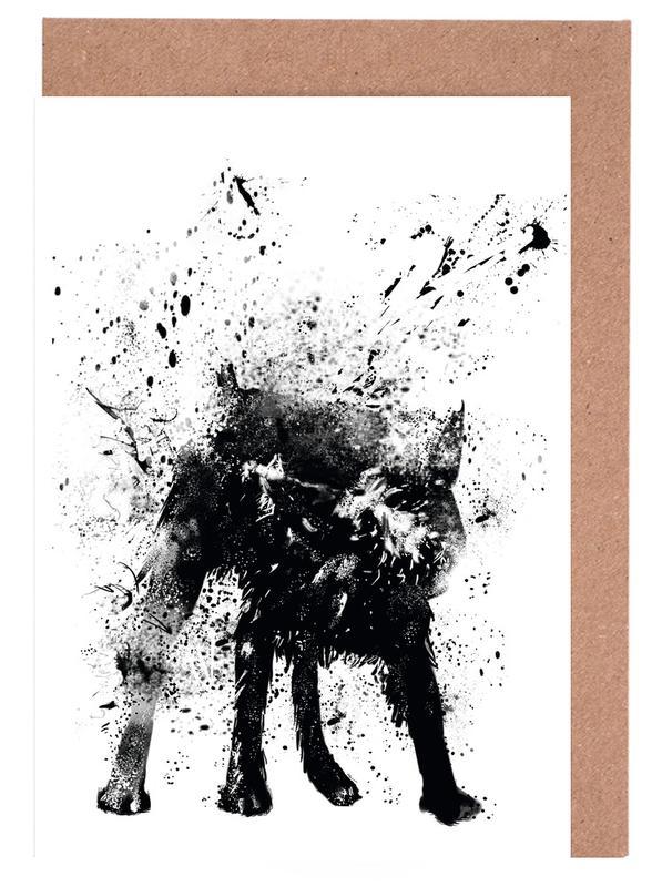 Chiens, Street Art, Wet dog cartes de vœux