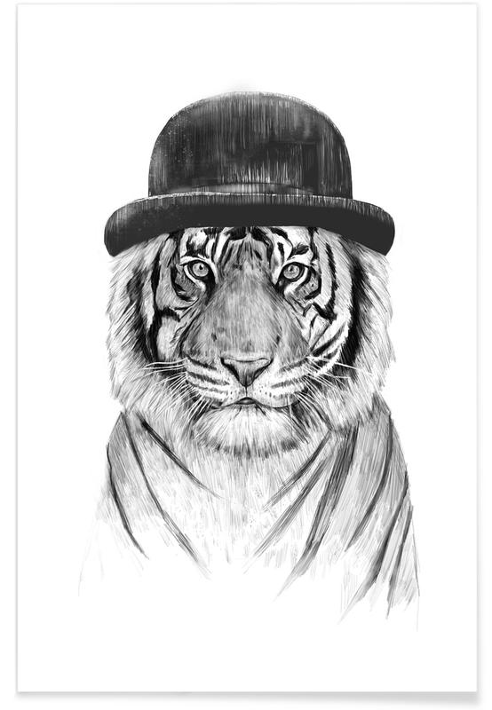 Black & White, Tigers, Welcome To The Jungle Poster