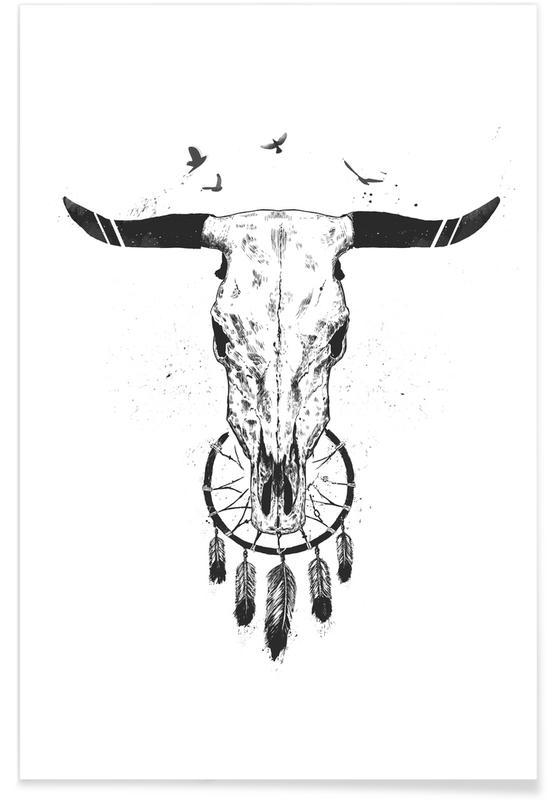 Schedels, Zwart en wit, Beautiful Dream poster