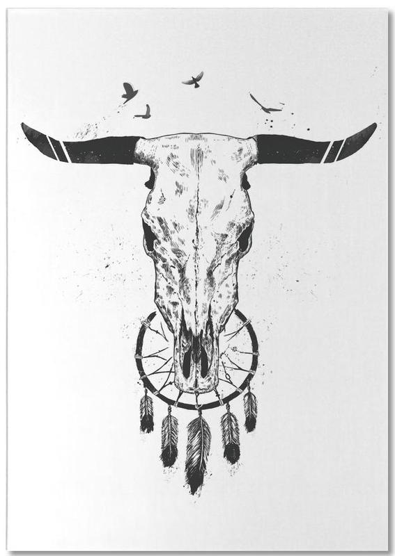 Skulls, Black & White, Beautiful Dream Notepad