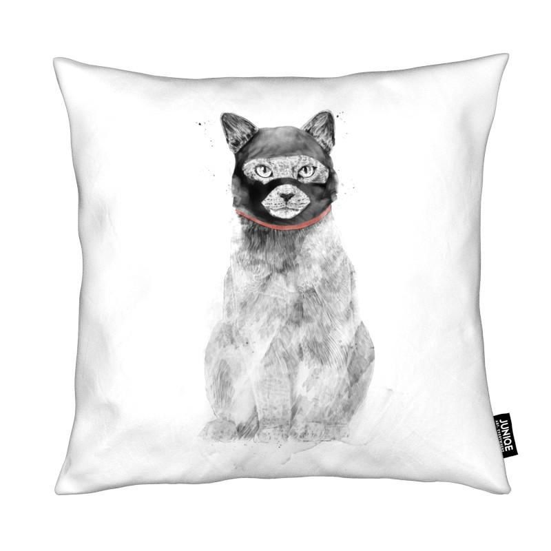 Humour, Chats, Masked Cat coussin