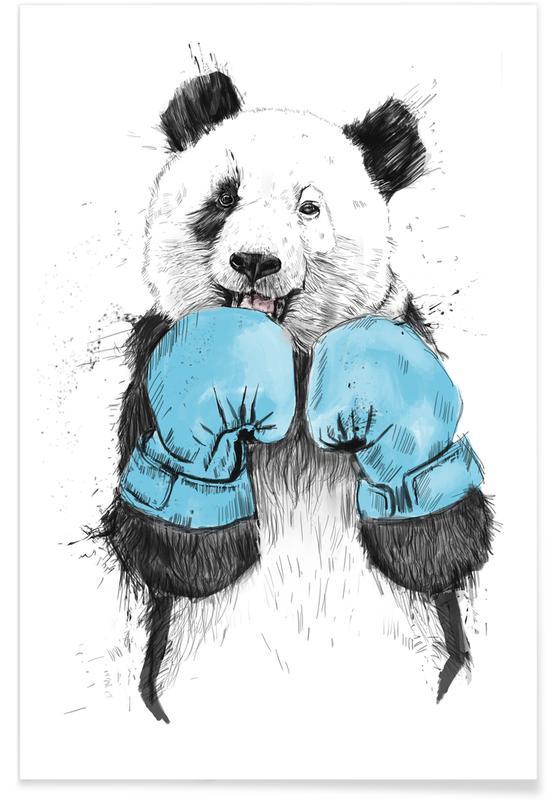 Art pour enfants, Pandas, The Winner affiche
