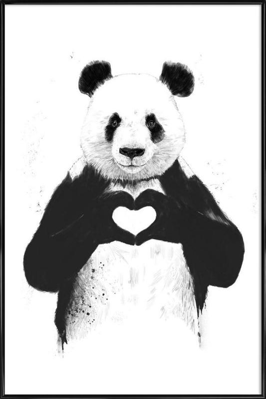 All You Need Is Love -Bild mit Kunststoffrahmen