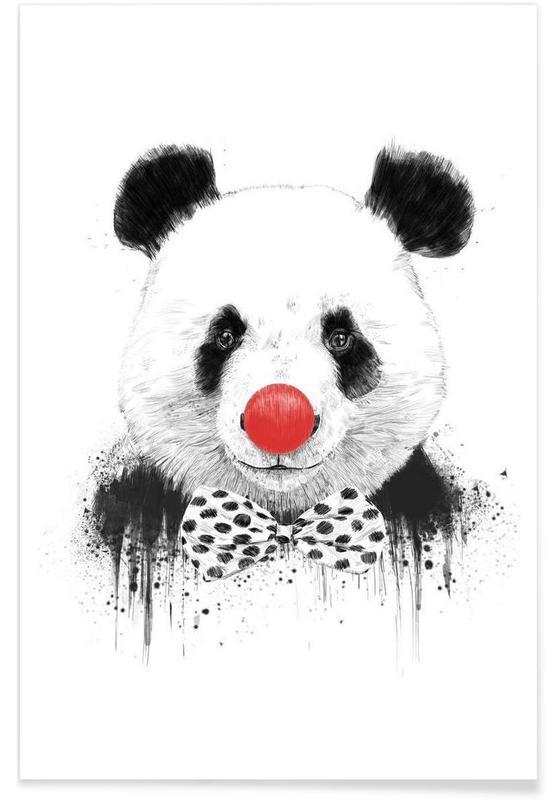 Pandas, Panda Clown - Dessin affiche