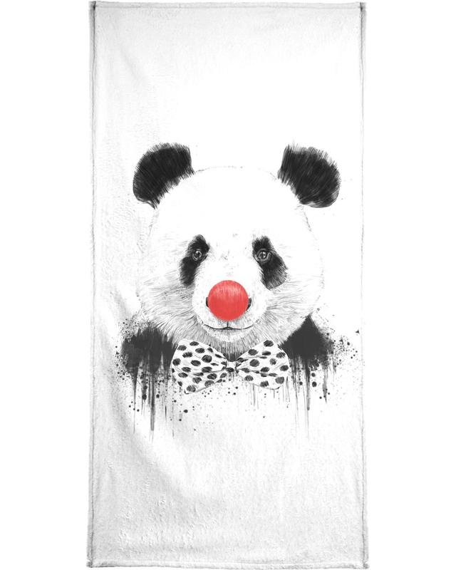 Clown Panda Bath Towel