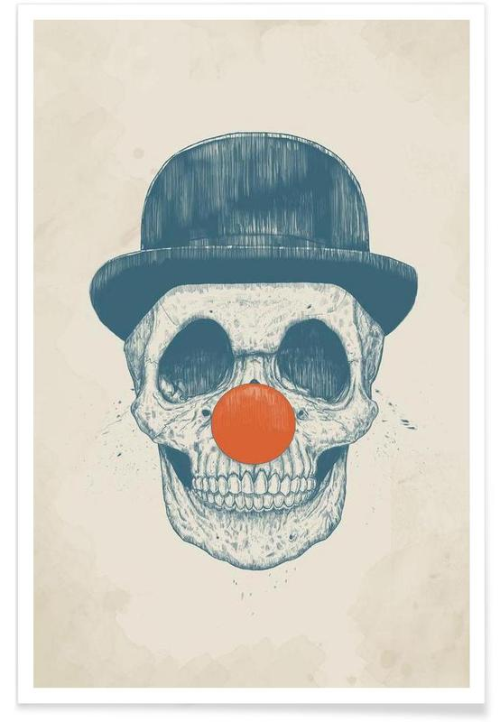Clown mort - Dessin affiche