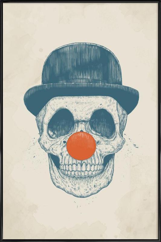Dead Clown -Bild mit Kunststoffrahmen