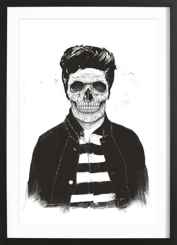 Death Fashion -Bild mit Holzrahmen