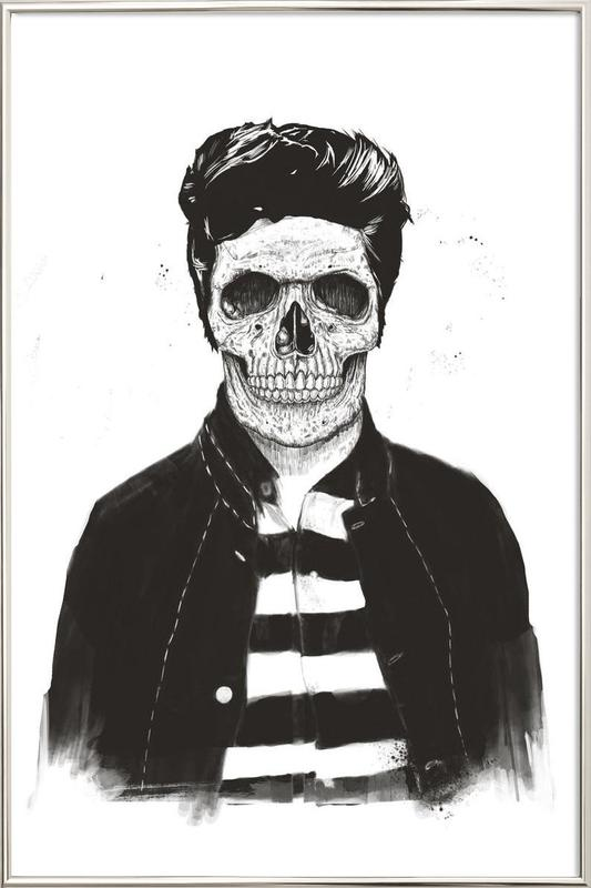 Death Fashion Poster in Aluminium Frame