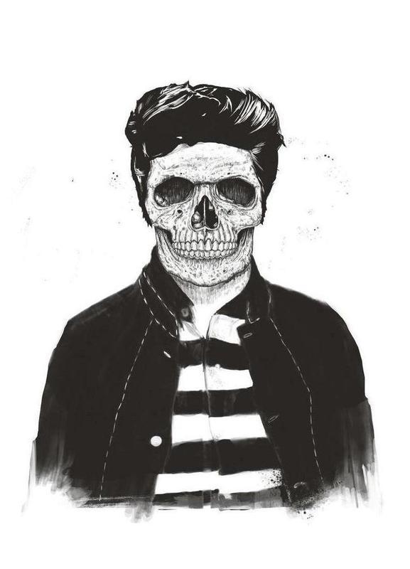 Death Fashion canvas doek