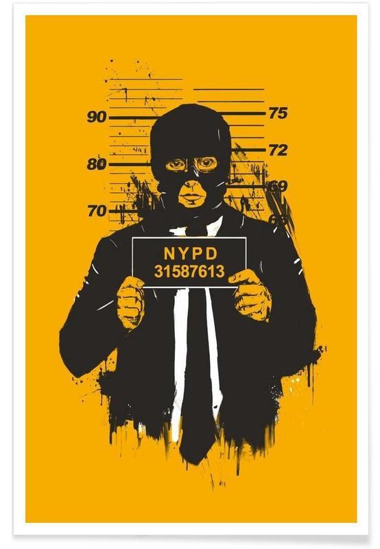 Mugshot - Dessin affiche