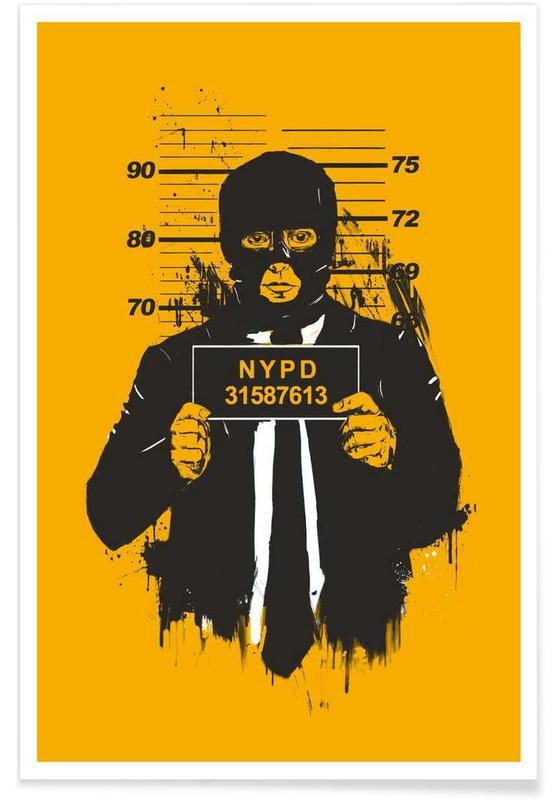 Mugshot Drawing Poster
