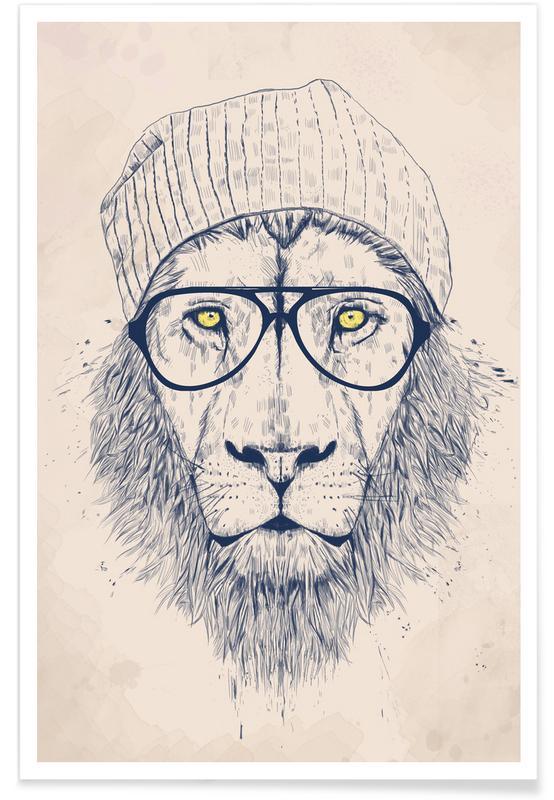 Cool lion - Dessin affiche