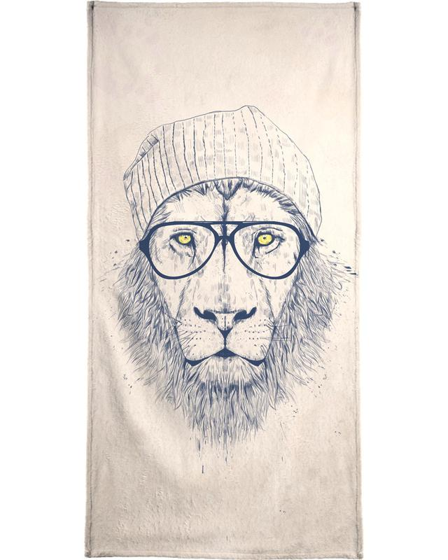 Cool lion -Strandtuch