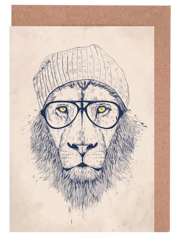 Löwen, Cool lion -Grußkarten-Set