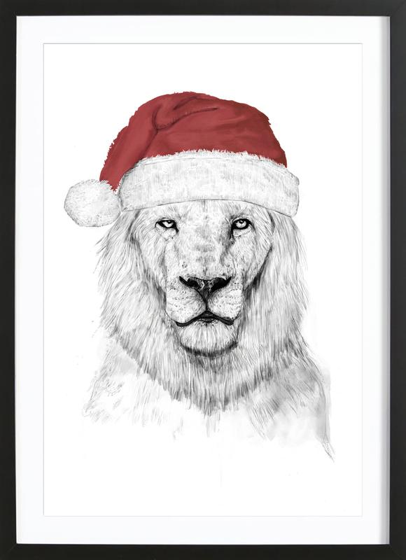 Santa Lion 2 Framed Print