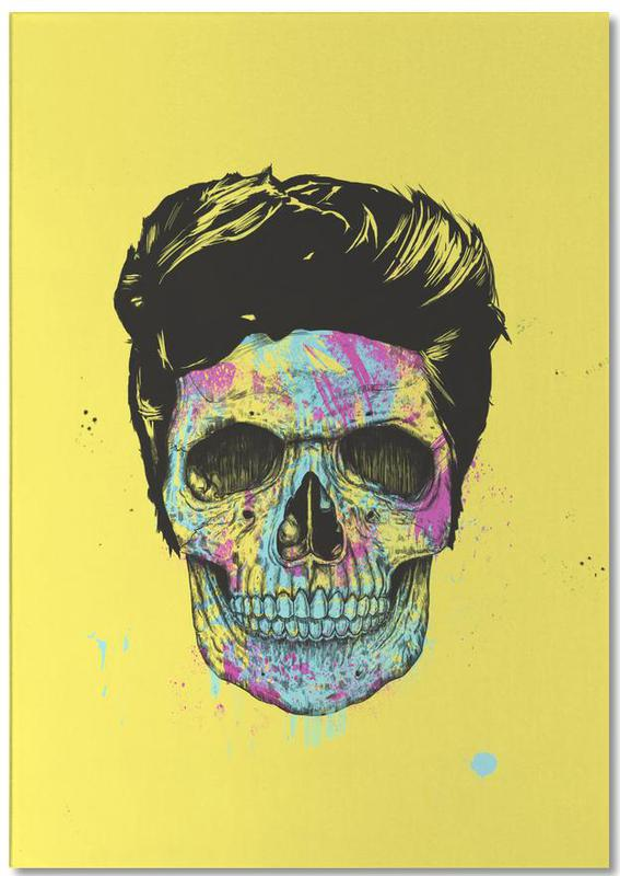 Skulls, Street Art Style, Color your death Notepad