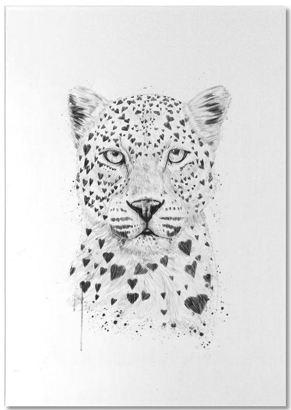 Lovely leopard -Notizblock
