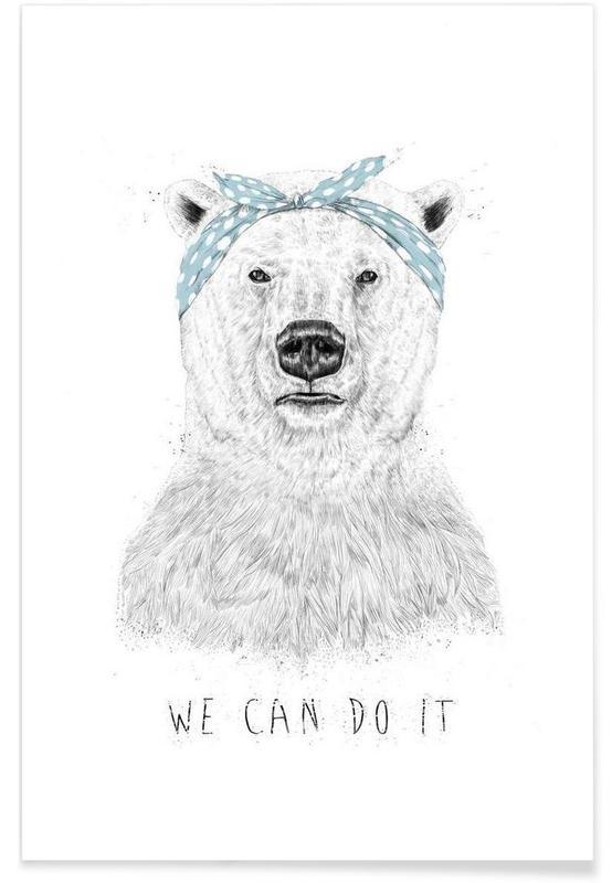 Bären, Schwarz & Weiß, We can do it -Poster