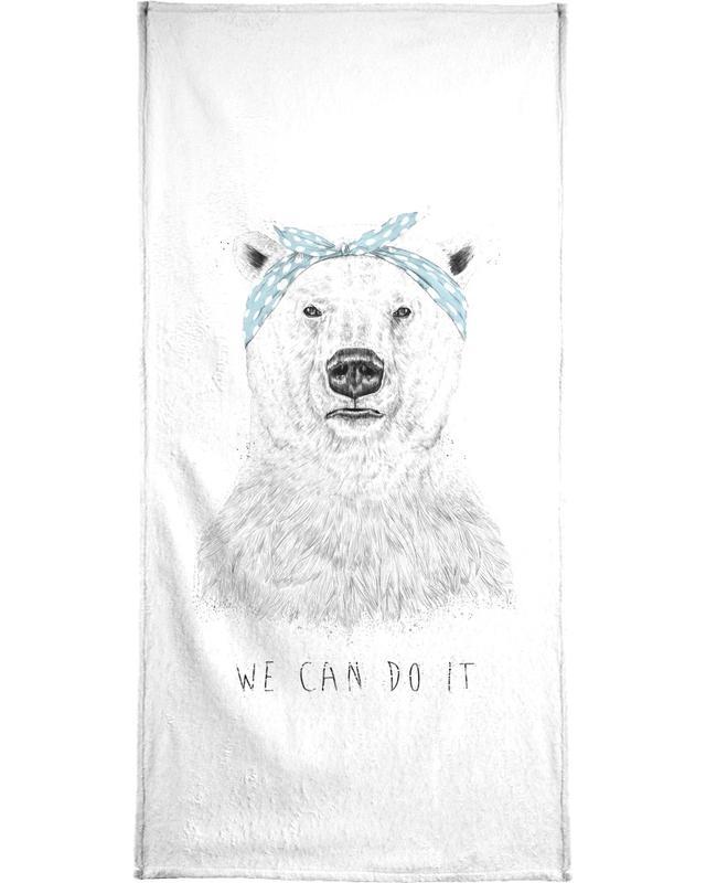 Beren, Zwart en wit, We can do it handdoek