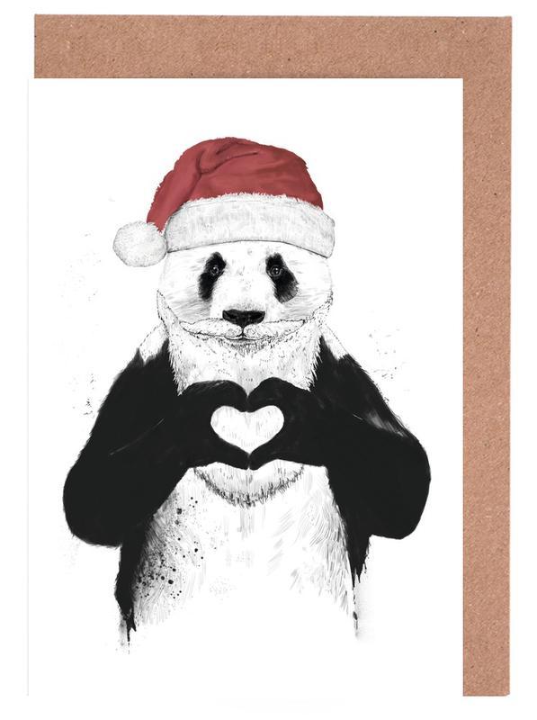 Santa Panda Greeting Card Set