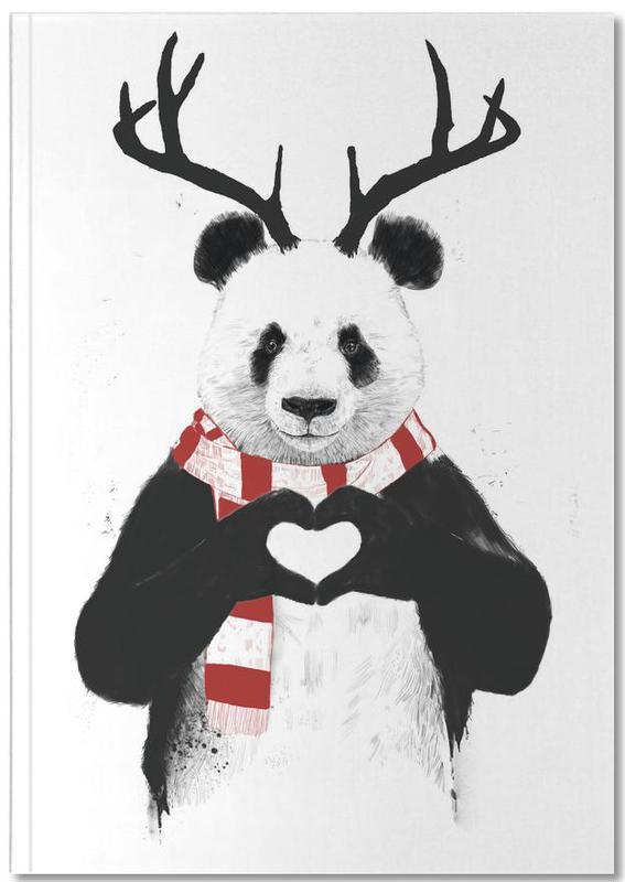 Pandas, Noël, Rudolph Panda Notebook