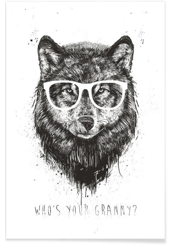 Noir & blanc, Loups, Who's Your Granny ? affiche