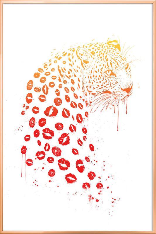 Kiss Me -Poster im Alurahmen