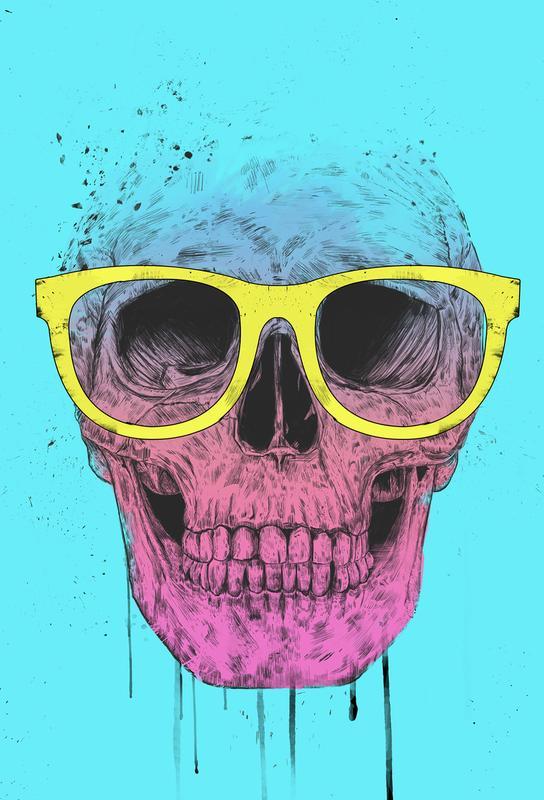 Pop Art Skull Aluminium Print
