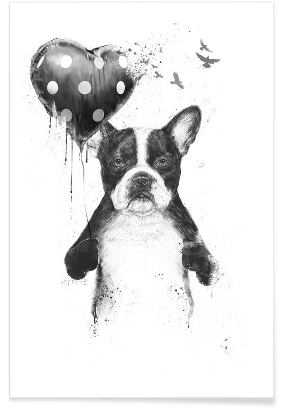 Hunde, Geburtstage, Valentinstag, My Heart Goes Boom -Poster