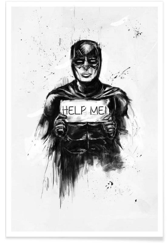 Batman, Black & White, Help me! Poster