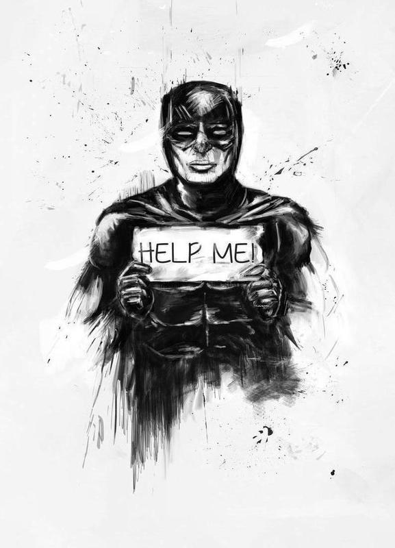 Help me! -Leinwandbild