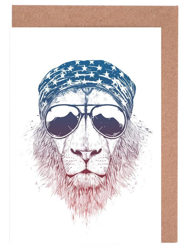 Löwen, Wild Lion -Grußkarten-Set