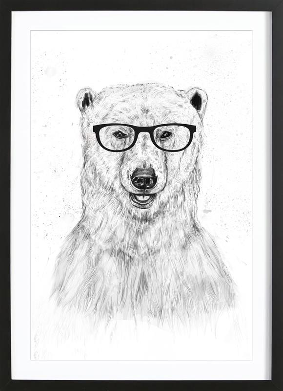 Geek Bear ingelijste print