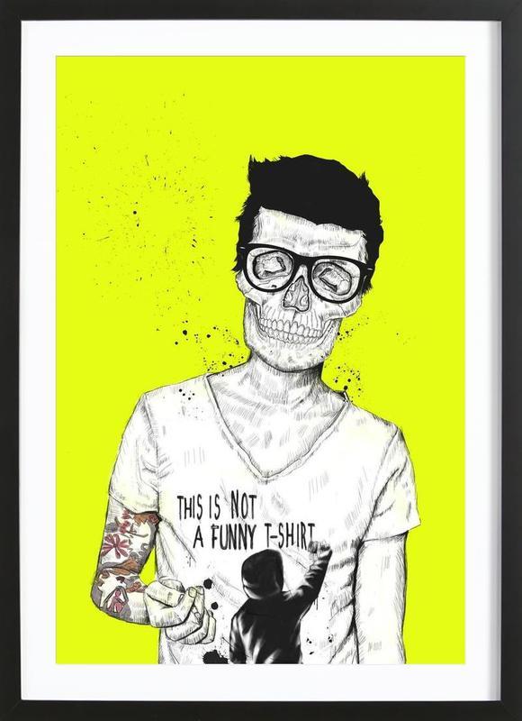 Hipsters not dead -Bild mit Holzrahmen