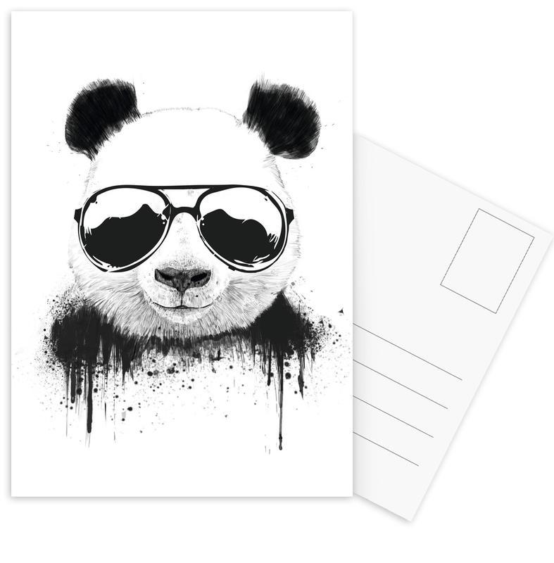 Noir & blanc, Pandas, Humour, Stay Cool cartes postales