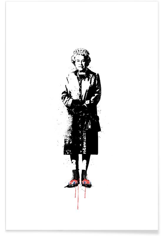 Black & White, Travel, This is England Poster