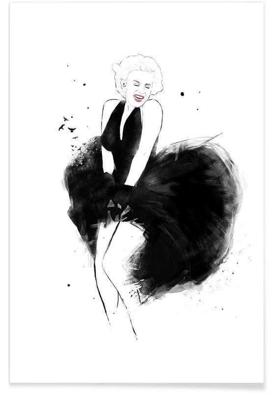 Black & White, Marilyn Poster