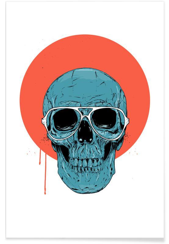 Schedels, Blue skull II poster