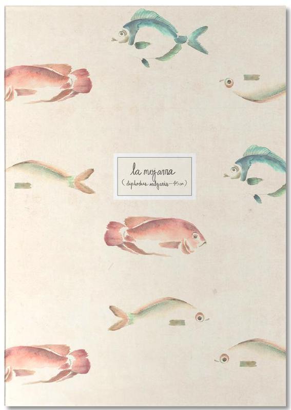 Fish, Las Mojarras Vert ( Poster) Notepad