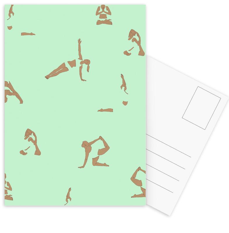 Yoga, Yoga Practice 13 cartes postales