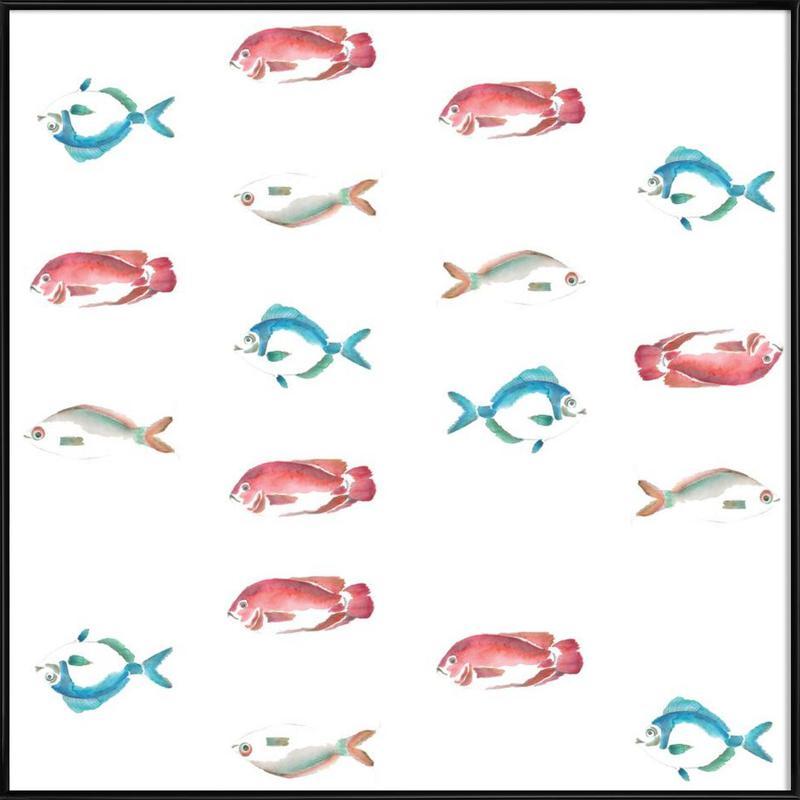 Pattern: La Mojarra Framed Poster