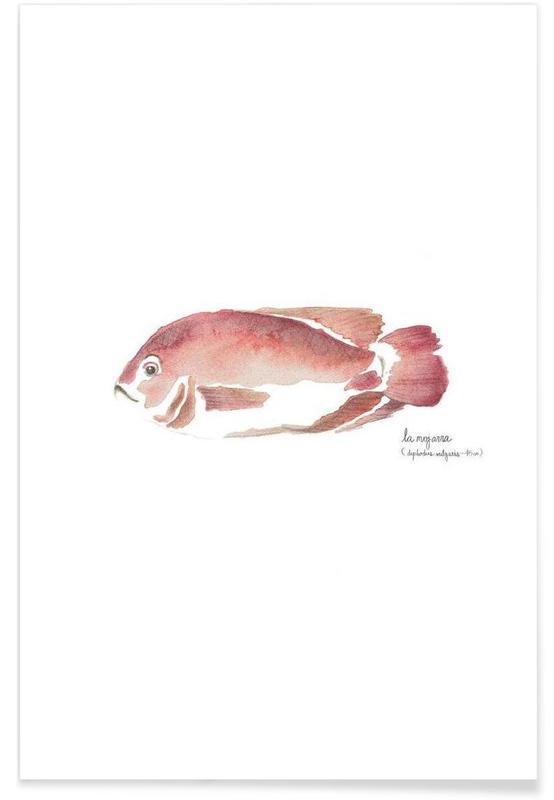 Fisk, La Mojarra Roja ( red crappie) Plakat