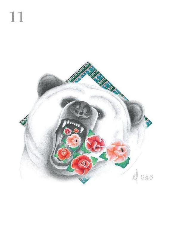 Series loteria: El Oso Canvas Print