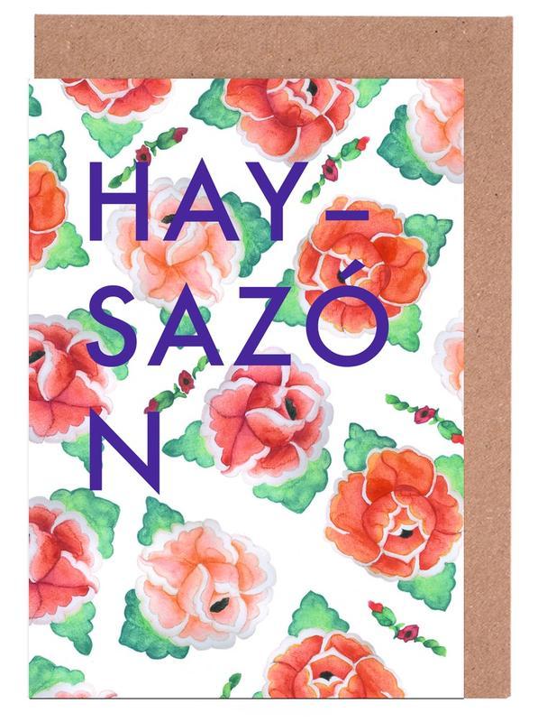 Quotes & Slogans, Las Rosas de Bartolomé - Hay sazón Greeting Card Set