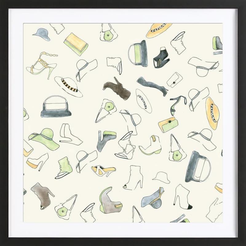 Pattern: Shooz Framed Print