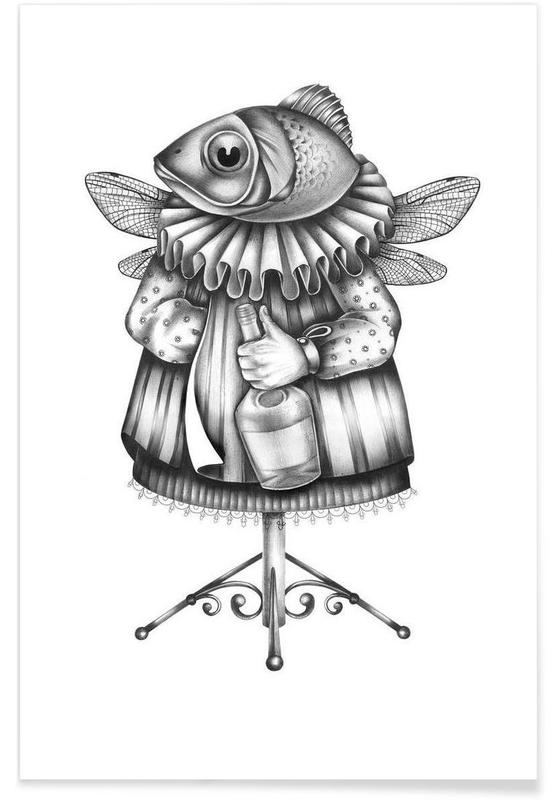 Noir & blanc, Créatures et hybrides, Fish affiche